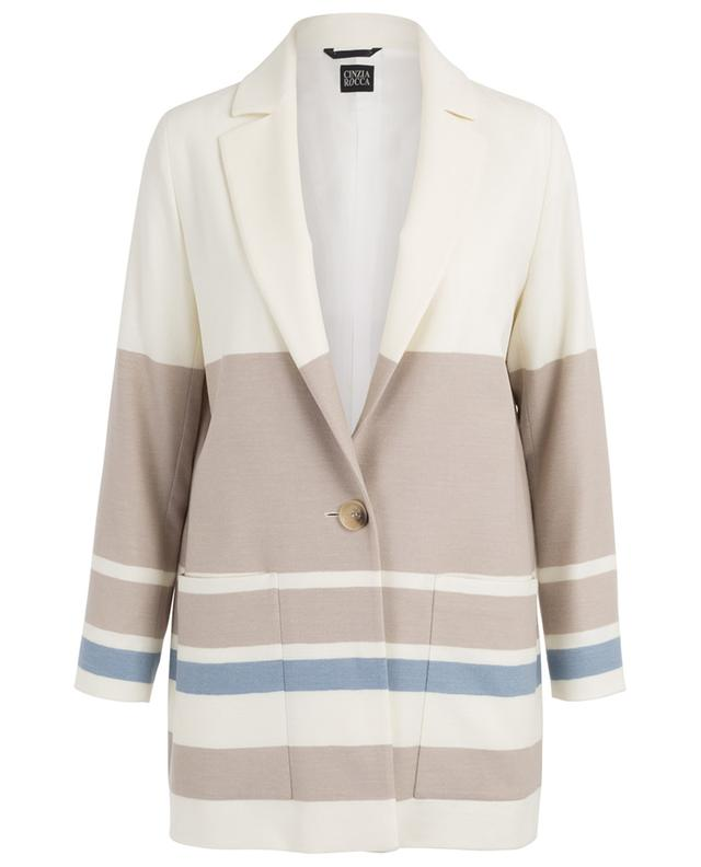 Light-weight striped virgin wool jacket CINZIA ROCCA