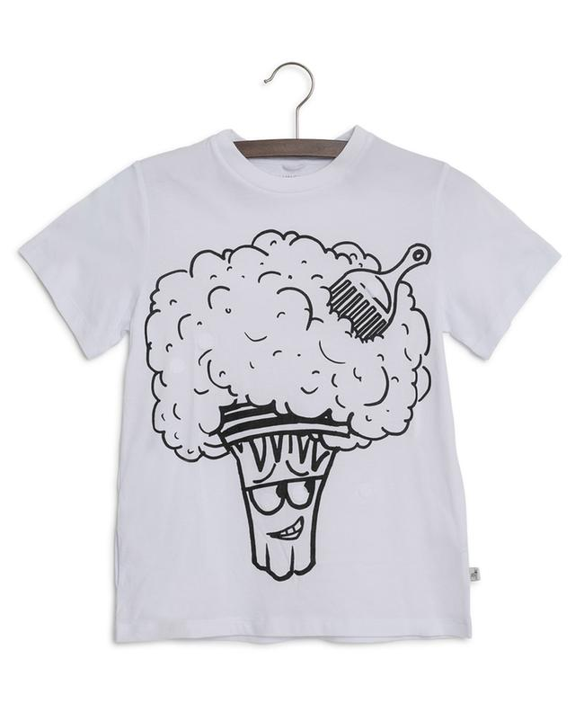 Broccoli Funny Face T-shirt with removable patches STELLA MCCARTNEY