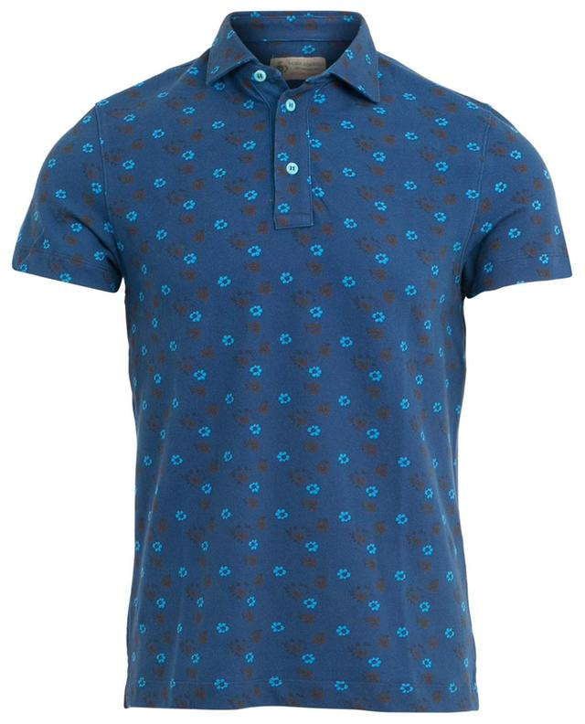 Floral print cotton polo shirt LUIGI BORRELLI