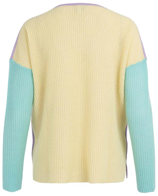 Pastel colour block cashmere jumper FTC CASHMERE