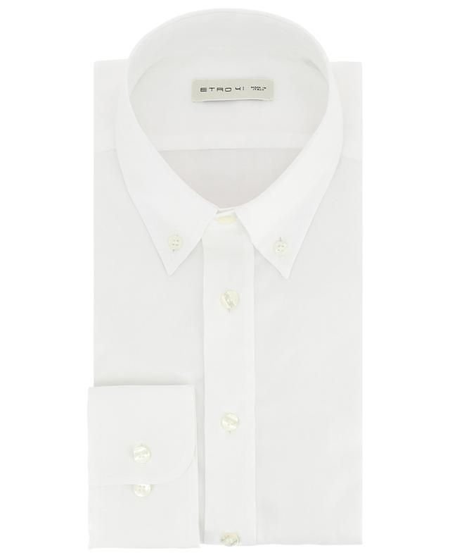 Textured cotton shirt with button-down collar ETRO