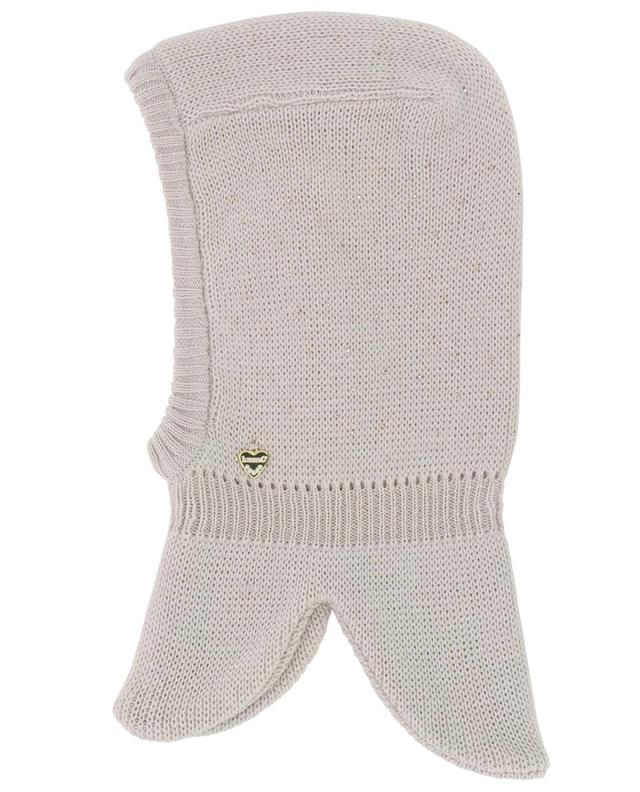 Virgin wool balaclava with golden crystals IL TRENINO