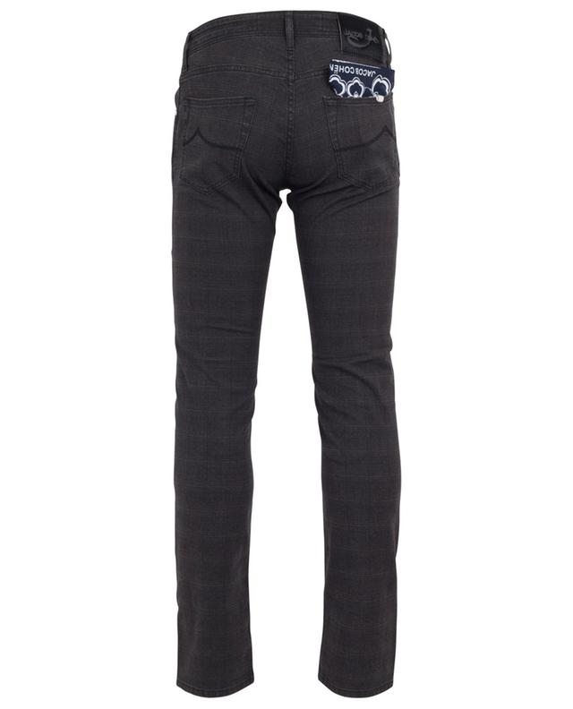 J622-COMF glen check print jeans JACOB COHEN