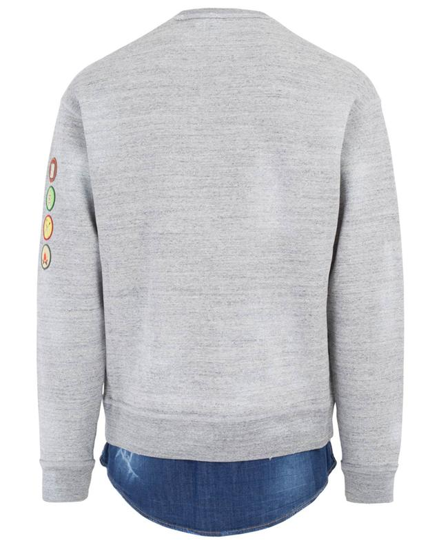Sweat-shirt en coton et denim DSQUARED2