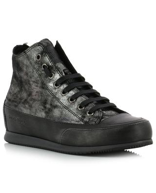 Metallic leather high sneakers CANDICE COOPER