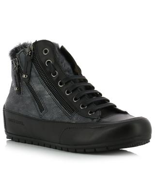Lucia Zip high-top leather sneakers CANDICE COOPER