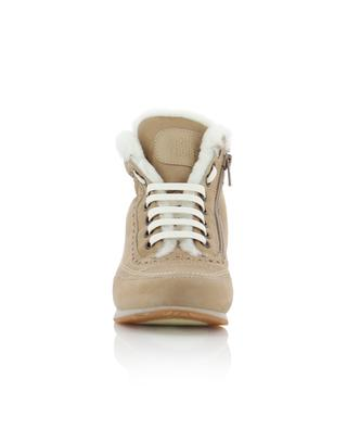 Milena suede and shearling sneakers CANDICE COOPER