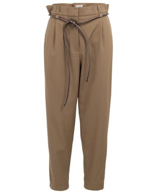 Virgin wool and coton blend tapered leg trousers BRUNELLO CUCINELLI