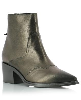 Metallic effect leather ankle boots VIC MATIE
