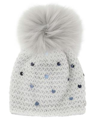 Sequined and fur embellished beanie IL TRENINO
