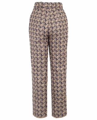Keep Me Save straight leg tweed trousers EZGI CINAR