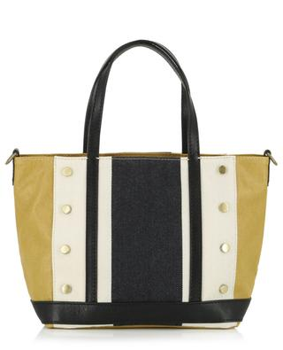 Small waxed canvas and leather tote bag VANESSA BRUNO