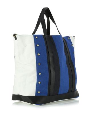 Large waxed canvas and leather tote bag VANESSA BRUNO