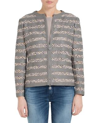 Leather and embroidery jacket ARMANI