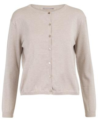 Short cotton, cashmere and Lurex cardigan HEMISPHERE