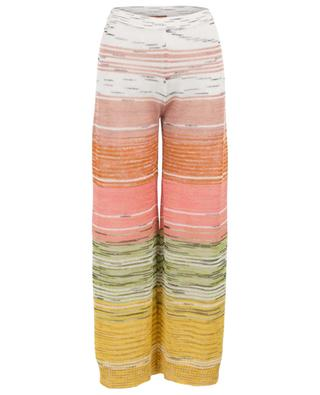 Linen, viscose and cashmere blend wide leg trousers MISSONI
