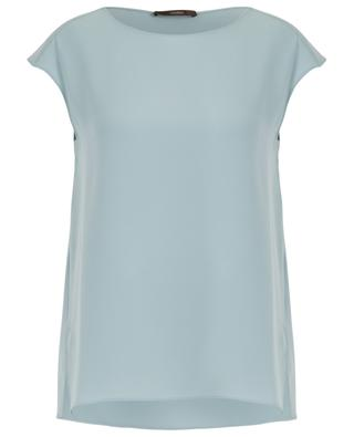Loose fit sleeveless crepe top WINDSOR