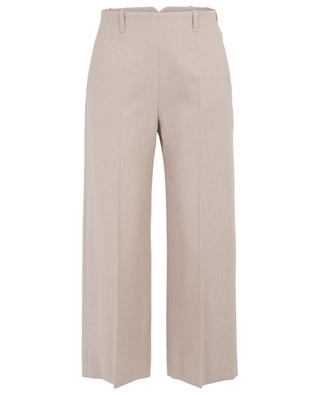 Cropped wide-leg cotton blend trousers WINDSOR