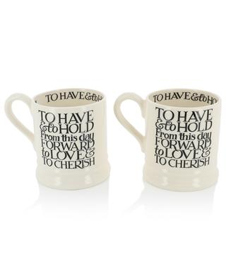 Coffret 2 mugs Black Toast Mr & Mrs EMMA BRIDGEWATER
