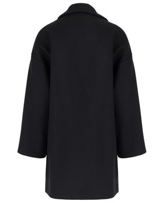 Wide wool and cashmere coat with heart-shaped pockets RED VALENTINO