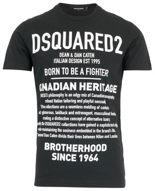 Print cotton T-shirt DSQUARED2