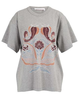 Paisley printed cotton T-shirt SEE BY CHLOE