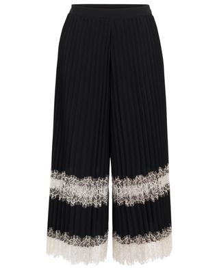 Pleated split skirt with lace TWINSET