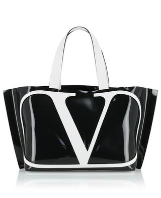 VLOGO Beach Bag Small polymer and leather bag VALENTINO