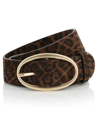 Leopard print velours leather belt VANESSA BRUNO