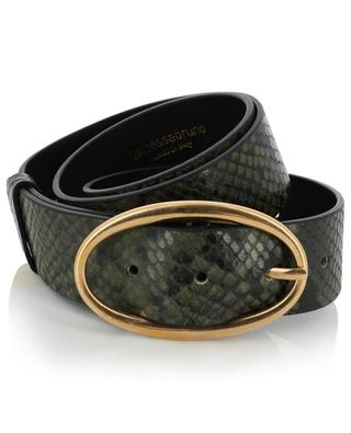 Python effect leather belt VANESSA BRUNO