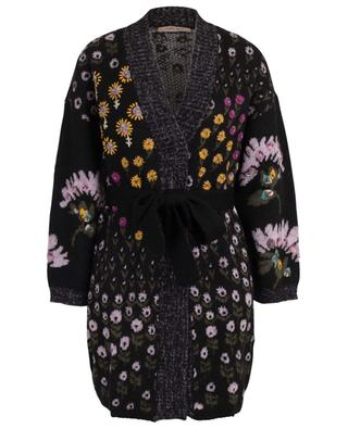 Long floral cardigan with crystal embroideries TWINSET