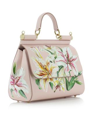 Sicily Medium lily print leather bag DOLCE & GABBANA