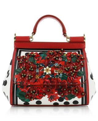 Sicily Mini floral leather bag with crystals DOLCE & GABBANA