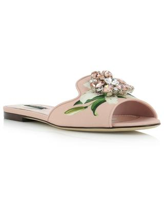 Bianca flat mules with strass DOLCE & GABBANA