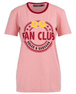 DG Fan Club logo cotton T-shirt DOLCE & GABBANA