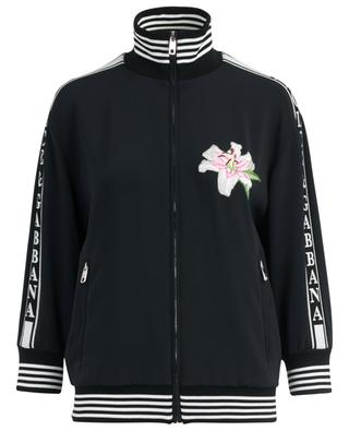 Lily embroidered ligthweight cady jacket with logo DOLCE & GABBANA