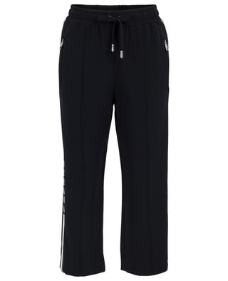 Short track spirit cady trousers with logo stripe DOLCE & GABBANA