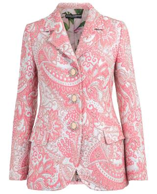 Jacquard lamé blazer with decorative buttons DOLCE & GABBANA