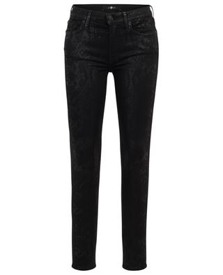 Jean effet peau de serpent The Skinny Coated Black 7 FOR ALL MANKIND