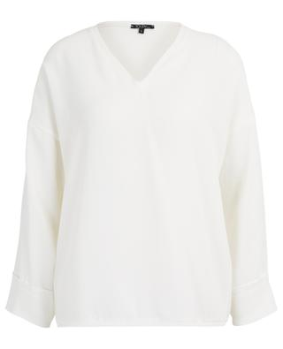 Lido V-neck top with raw edges TOUPY