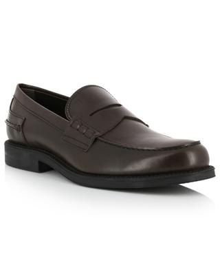 Smooth leather loafers with straps TOD'S