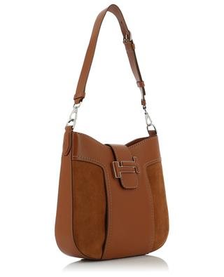 Hobo Tod's Double T Small smooth leather and suede bag TOD'S