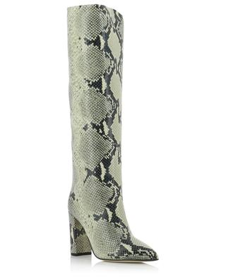 Python embossed block heel boots PARIS TEXAS