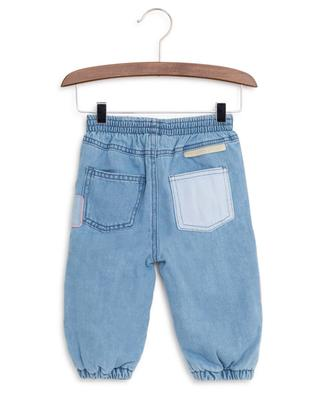 Denim trousers with patches STELLA MCCARTNEY KIDS