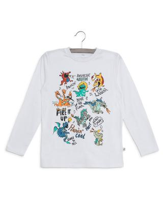 Dancing Dragons sustainable long-sleeved T-shirt STELLA MCCARTNEY KIDS