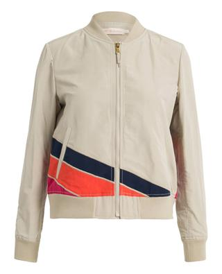 Embroidered bomber jacket TORY BURCH