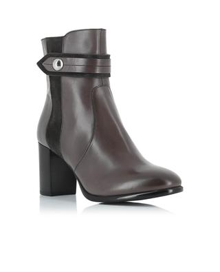 Heeled leather and suede ankle boots TRIVER FLIGHT