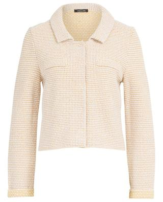 Short textured cotton jacket ANNECLAIRE