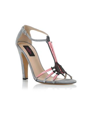 Suede and leather sandals VALENTINO