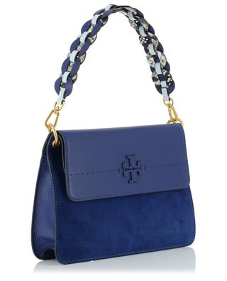 McGraw suede and leather shoulder bag TORY BURCH